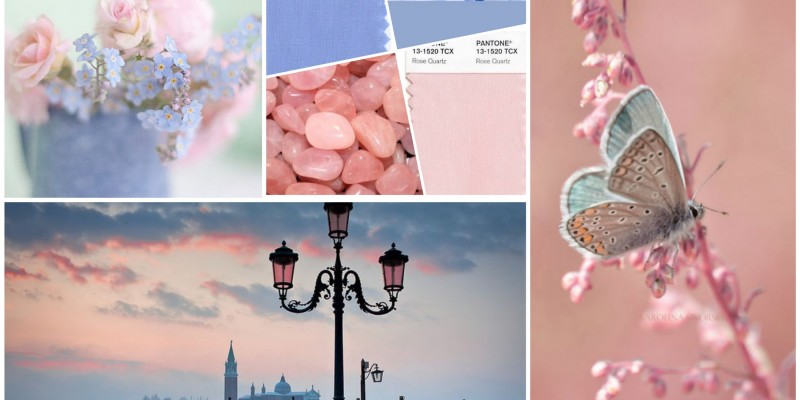 How you can use Pantone's Colors of the Year in your home? Rose Quartz and Serenity, Pantone 13-1520 and Pantone 15-3919
